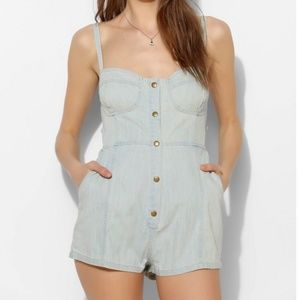 Urban Outfitter BDG Chambray Bustier Romper
